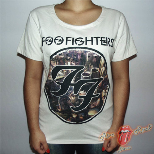 Camiseta Baby Look Foo Fighters - Sonic Highways - Bomber Classics
