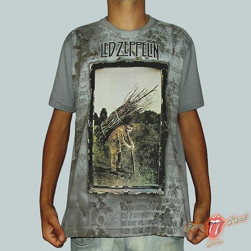 Camiseta Led Zeppelin - Led Zeppelin IV - Stamp Premium