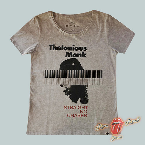 Camiseta Baby Look - Thelonious Monk - Straight No Chaser - Bomber Classics