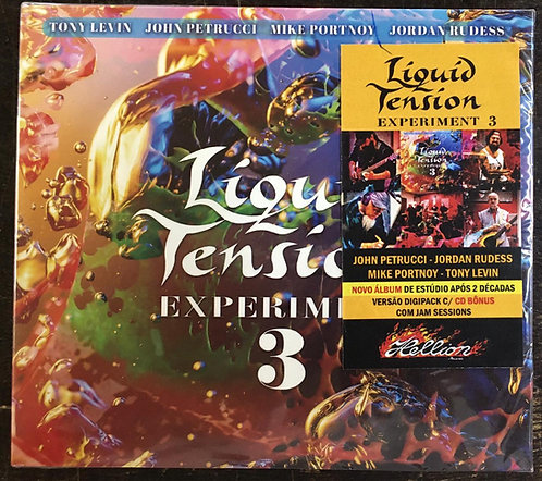 CD Liquid Tension Experiment 3 - Duplo - Digipack - CD Bônus