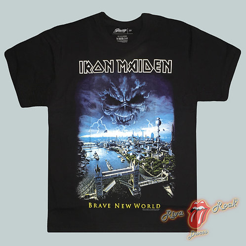 Camiseta Iron Maiden - Brave New World - Stamp