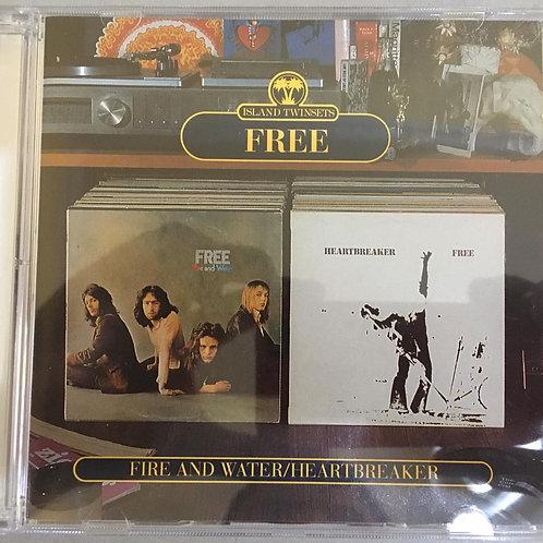 CD Free - Fire And Water & Heartbreaker - 2 Em 1 - Duplo - Imp (Seminovo)