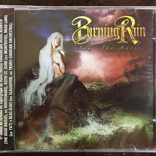 CD Burning Rain - Face The Music - Lacrado