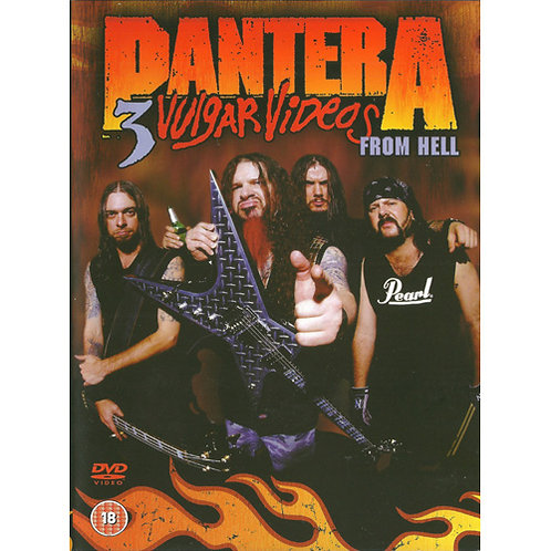 DVD Pantera - 3 Vulgar Videos From Hell - Importado - Lacrado