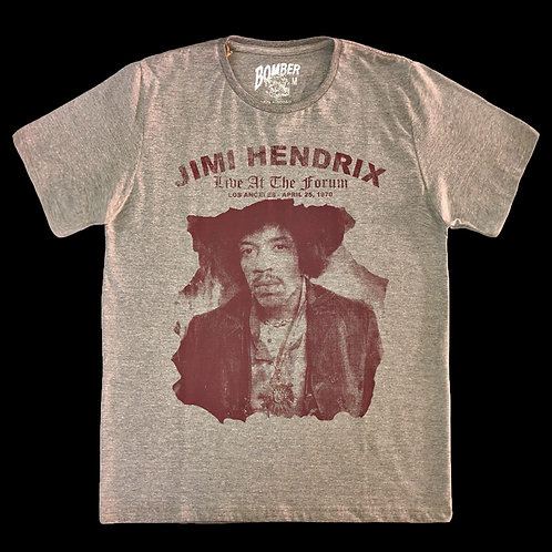 Camiseta Jimi Hendrix - Live At The Forum - Bomber