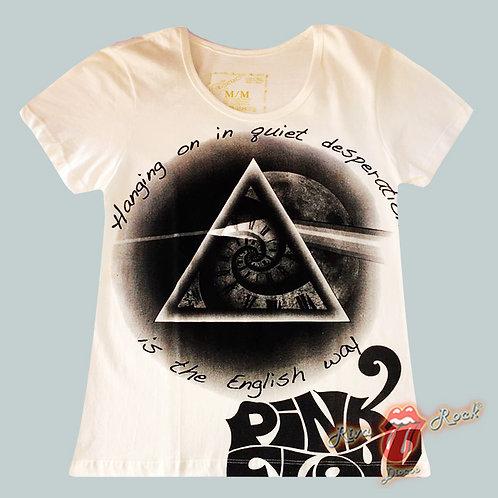 Camiseta Baby Look Pink Floyd - The Dark Side Of The Moon - Marrockus