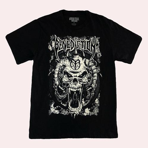 Camiseta Benediction - Skull - Brutal
