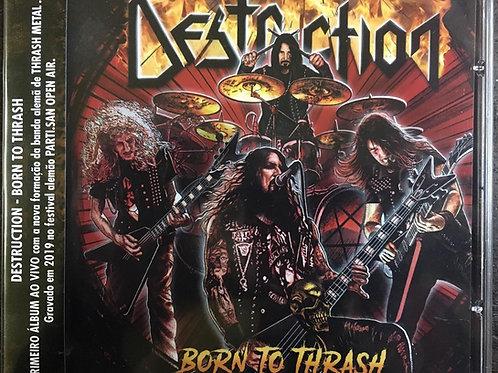 CD Destruction - Born To Thrash - C/World Map - Lacrado
