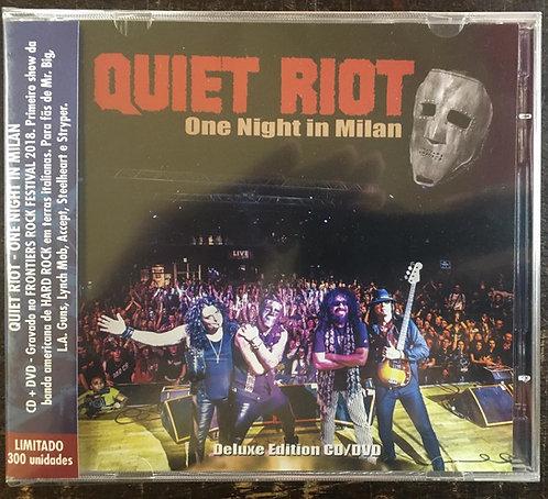 CD + DVD Quiet Riot - One Night In Milan - Lacrado