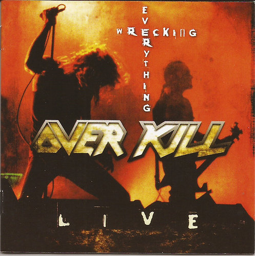 CD Overkill - Wrecking Everything (Live) - Imp - Lacrado