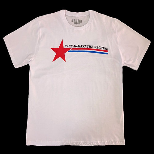 Camiseta Rage Against The Machine - Branca - Brutal