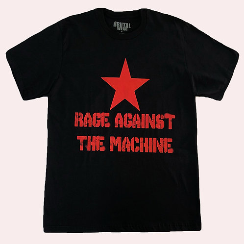 Camiseta Rage Against The Machine - Logo - Preta - Brutal
