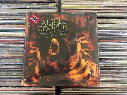 LP Alice Cooper - Slicker Than A Weasel - Live 1978 - Importado