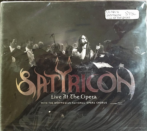 CD Duplo + DVD Satyricon - Live At The Opera - Lacrado