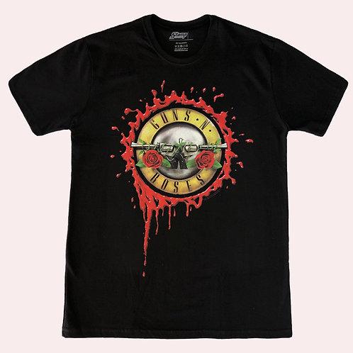 Camiseta Guns N' Roses - Logo Blood - Stamp