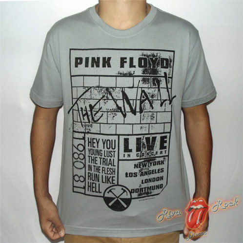 Camiseta Pink Floyd - The Wall - Live In Concert - Stamp