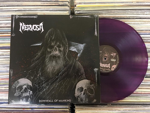LP Nervosa - Downfall Of Mankind - Vinil Roxo - C/ Encarte