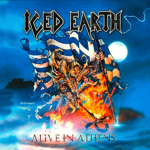 CD Iced Earth - Alive In Athens - Triplo - Digipack - Lacrado