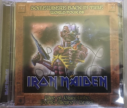 CD Iron Maiden - Somewhere Back In Time World Tour 08 - Duplo - Importado