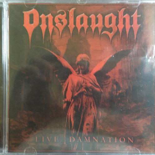 CD Onslaught - Live Damnation - Importado - Lacrado