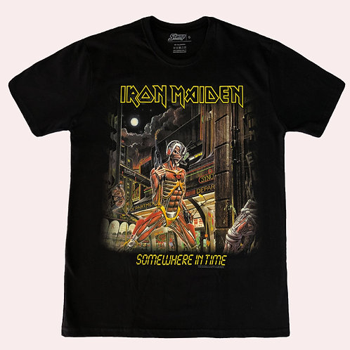 Camiseta Iron maiden - Somewhere In Time - Stamp