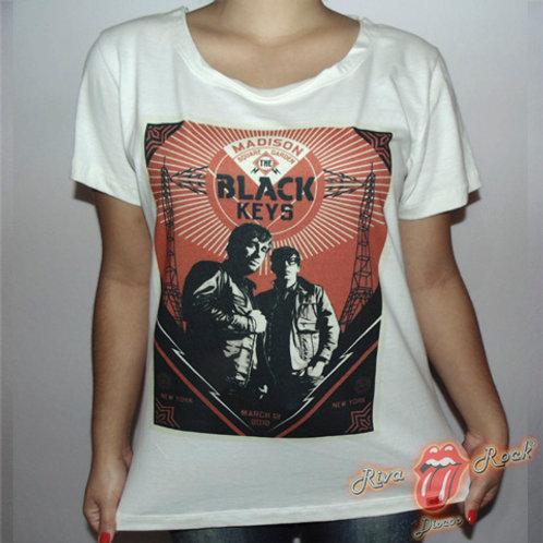 Camiseta Baby Look Black Keys - Madison Square Garden - Mescla - Bomber Classics