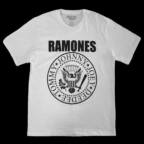 Camiseta Ramones - Símbolo - Branca - Brutal