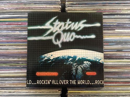 LP Status Quo - Rockin' All Over The World - Com Encarte