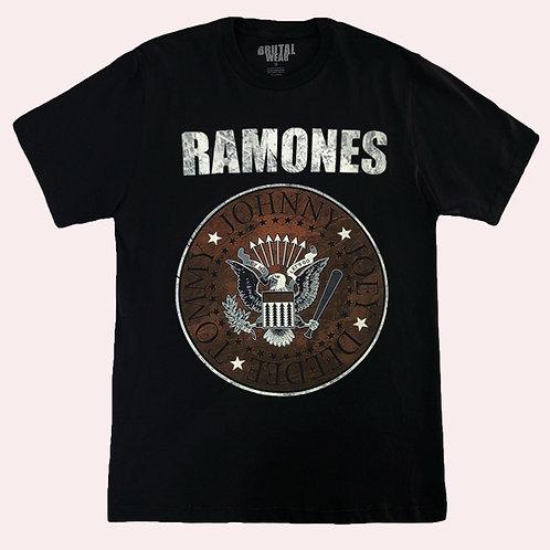 Camiseta Ramones - Símbolo - Preta - Brutal