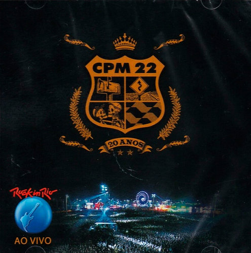 CD CPM 22 - Rock In Rio Ao Vivo - Lacrado