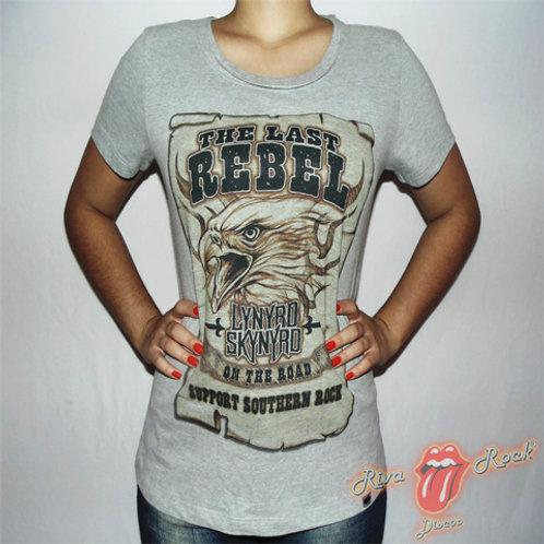 Camiseta Baby Look Lynyrd Skynyrd - The Last Rebel - Bomber Classics