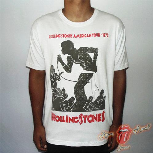 Camiseta The Rolling Stones - Rolling Stones American Tour - 1972 - Stamp