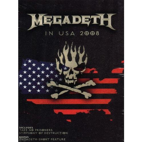 DVD Megadeth - In Usa 2008 - Importado - Lacrado