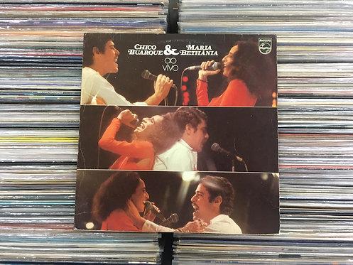 LP Chico Buarque & Maria Bethânia Ao Vivo - 1975