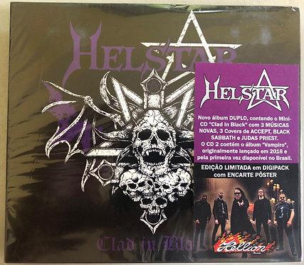 CD Helstar - Clad In Black + Vampiro - (Duplo) - Digipack - Lacrado