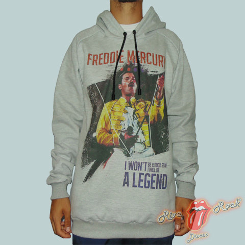 Moletom Freddie Mercury - I Won't Be a Rock Star I Will Be A Legend - Bomber