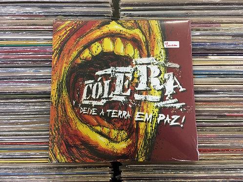 LP Cólera - Deixe A Terra Em Paz - Duplo - Importado - Colorido - Lacrado