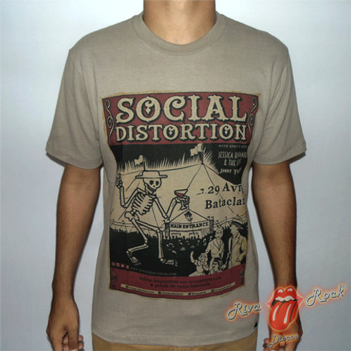 Camiseta Social Distortion - Poster - Bomber Classics