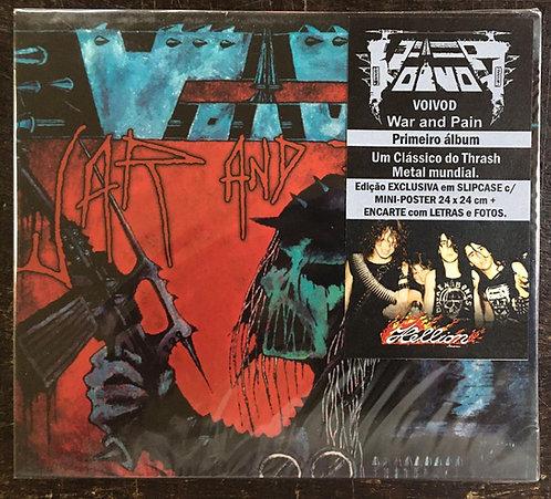 CD Voïvod - War And Pain - Slipcase - +Mini Pôster - Lacrado
