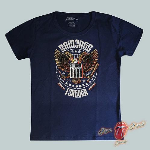 Camiseta Baby Look Ramones - Forever - Stamp