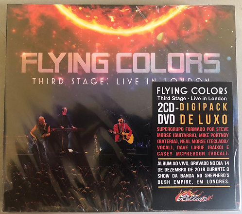 CD Flying Colors - Third Stage: Live In London (2 CDs+DVD) - Digipack - Lacrado