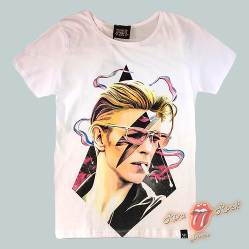 Camiseta Baby Look David Bowie - Bowie - Chemical