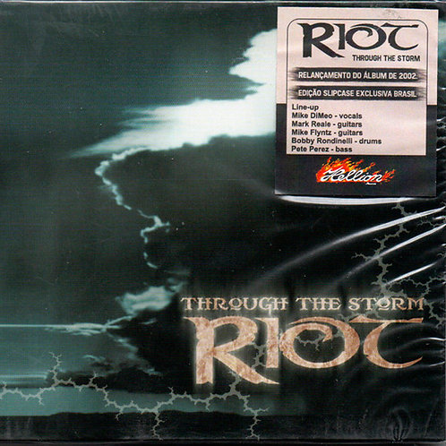 CD Riot - Through The Storm - Slipcse - Lacrado