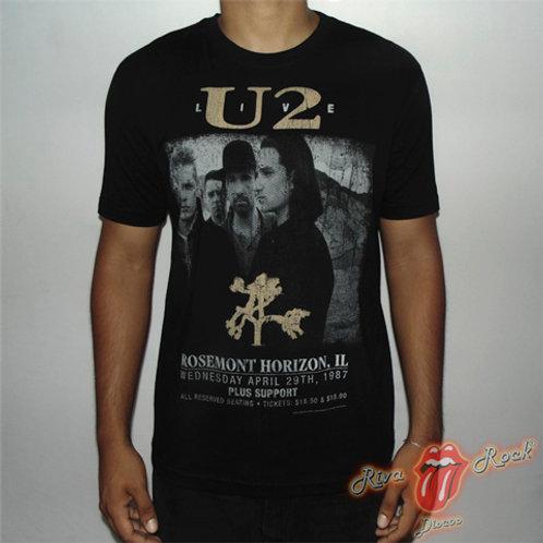 Camiseta U2 - The Joshua Tree Live Tour 29TH - Live - Stamp