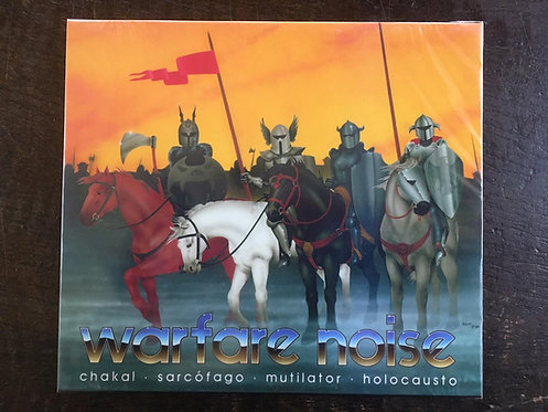 CD Warfare Noise - Chakal, Sarcófago, Mutilator, Holocausto - Slipcase - Lacrado