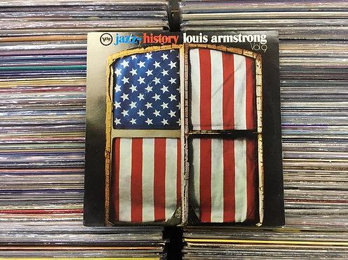 LP Louis Armstrong - Jazz History Vol. 9 - Duplo - Capa Dupla
