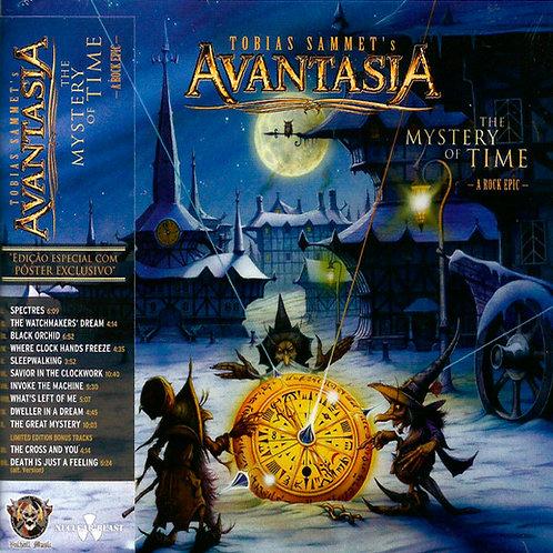 CD Avantasia - The Mystery Of Time (a Rock Epic) - Slipcase + Poster - Lacrado