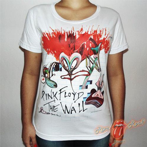 Camiseta Baby Look Pink Floyd - The Wall - Stamp