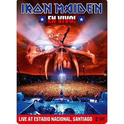 DVD Iron Maiden - En Vivo! - Live At Santiago - Duplo - Lacrado