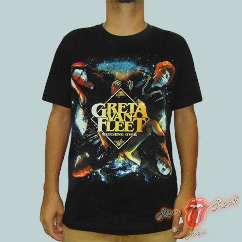Camiseta Greta Van Fleet - Watching Over - Bomber